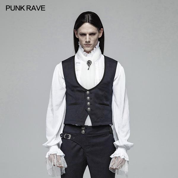 PUNK RAVE Hommes Gilet Gentleman Style Rétro Gothique Punk Gilet Victorien De Mode Soirée Formelle Veste Gilet