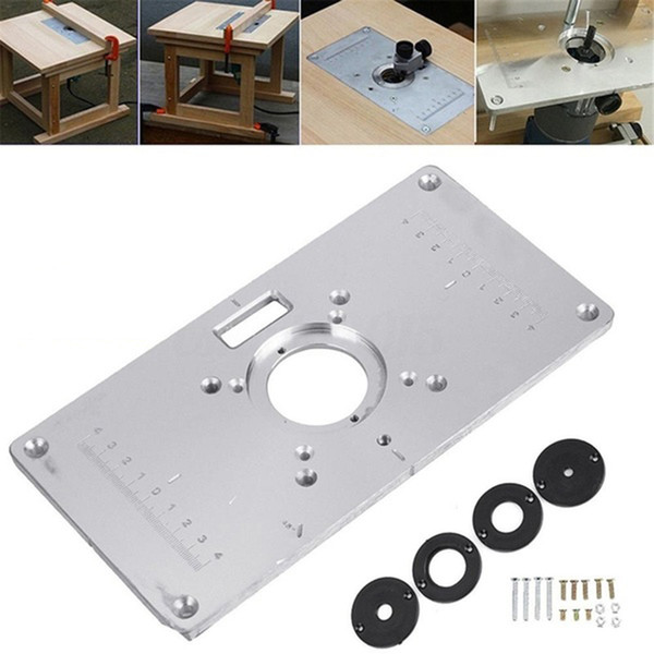 2019 Multifunctional Aluminum Router Table Insert Plate W 4 Rings For Engraving Machine Woodworking Benches Router Table Plate From Waroom88 25 4