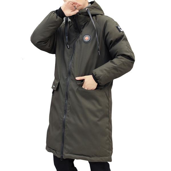 longue parkas hommes veste d'hiver 2018 Nouveau chaud coupe-vent Manteaux Casual Manteau matelassé coton grandes poches de haute qualité Parkas hommes CJ191118