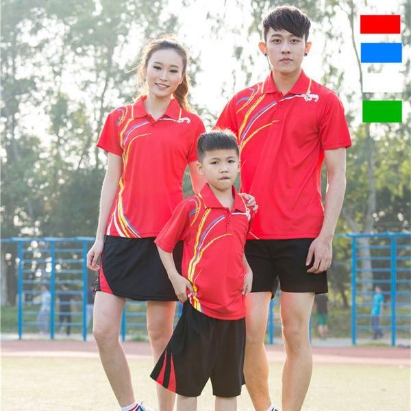 C6 Badminton Suit Sportswear for Men & Women & Kids Short Sleeve T-shirt for Leisure Running Basketball casual wear Table tennis Y1691