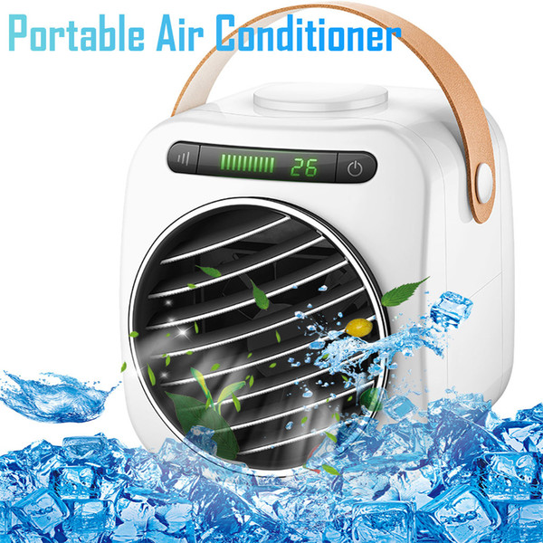 Personal Space Air Conditioner Mini USB Personal Space Air Cooler LED 3 Speeds Desktop Cooler Cooling Fan For Home Office