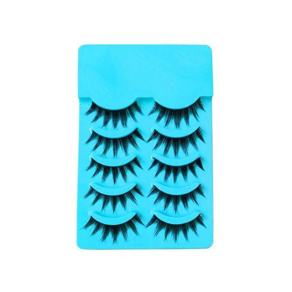 5 Pairs Long False Eyelashes Fake Eyelashes Makeup Tools Eye Lashes Extension for Party Bar