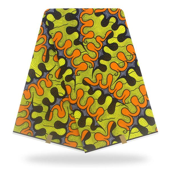 Afrika Kumaş Gerçek Balmumu Baskı 2019 Elbise Için Son Afrika Hollandais Balmumu Kumaş Dikiş Malzemesi Pamuk 2019 New Holland H90421