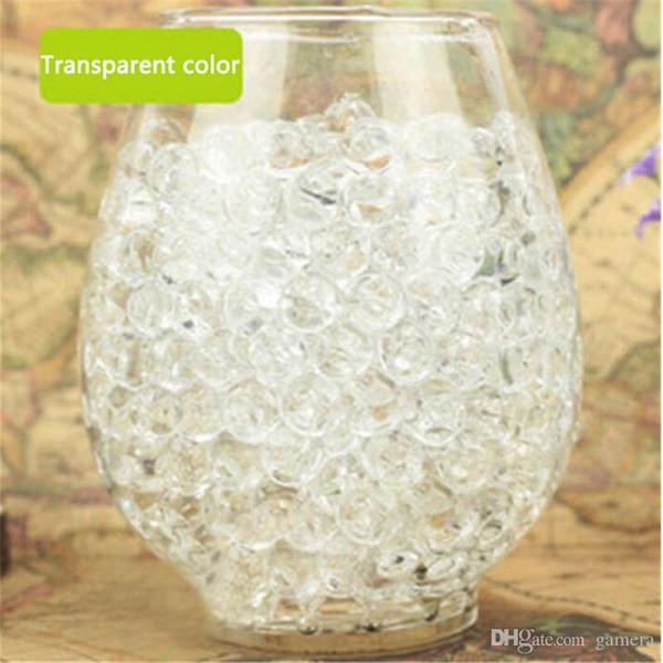 Freies Verschiffen 1000 stücke Wasser Pflanze Blume Gelee Kristallboden Schlamm Wasser Perlen Gel Perlen Kugeln Perlen Dekoration VaseCrystal N639-3