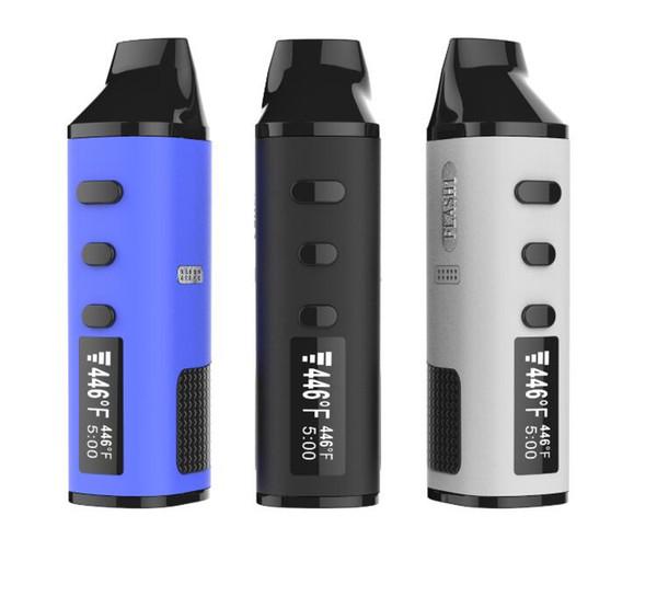 Flash Vaporizer Dry Herb Wax 2 In 1 vape pen Kit 1600mAh TC Battery LED Screen Ceramic Herbal Chamber Quartz Coils
