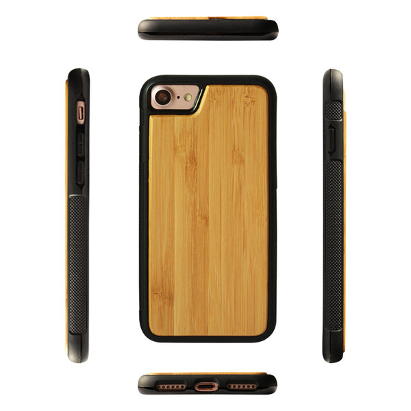 Hot Sale New Design Wood Phone Cover For Iphone X XS 7 8 plus 6s Mobile Phone Shell Bamboo Wood+TPU Case For Samsung S10 S10e s10 plus Shell