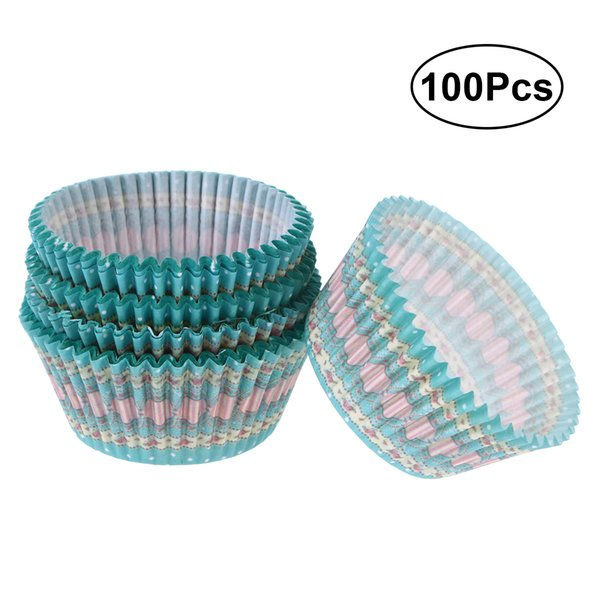 Cake Molds ROSENICE 100 Pcs Paper Baking Cups Cupcake Wrappers Liners Muffin Cases Cake Cup For Party Favors