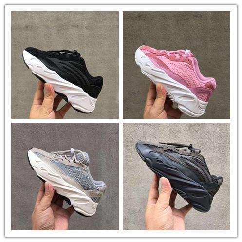 2019 Kids Shoes Wave Runner 700 Kanye West Running Shoes Boys Girls Trainer Sneaker 700 Sport Shoe Children Athletic Shoes size28-35
