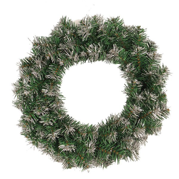 Artificial Door Garland Tree Christmas Wreath Ornament Wedding Decoration Hanging Home Decor Wall With Light