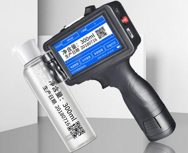 Industrial M6 handheld inkjet printer expiry date for plastic wood paper glass packing code printing machine