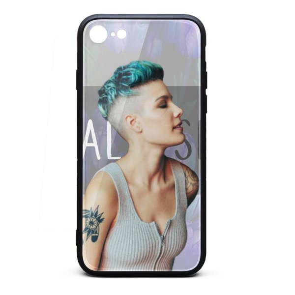 IPhone 8 Case iPhone 7 Case Halsey profile flowers Pop music best scratch-resistant TPU Soft Rubber Silicone Cover Phone Case