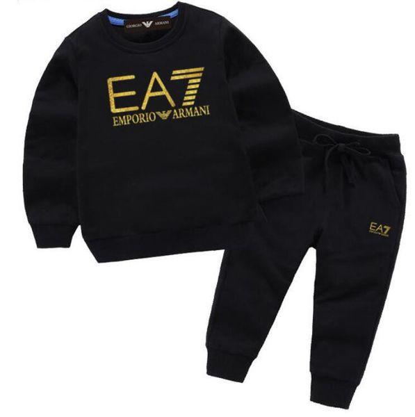 Sıcak Tasarımcı Markalar Bebek Sonbahar Giysileri Set Çocuklar Erkek Kız Üst Pantolon 2 Adet Takım Elbise Eşofman Kıyafetler enfants 3-7 yıl enfants Setleri