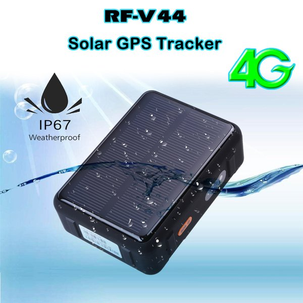 GPS Tracker 4G LTE Car GPS Tracker RF-V44 GSM WIFI Cow solar waterproof SOS alarm with platform real time Tracking