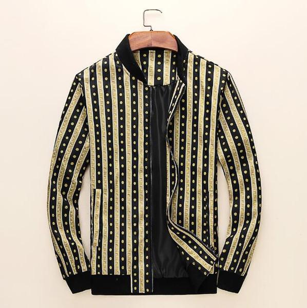 Мода куртка повседневная ветровка с длинным рукавом плюс размер M-3XL мужские куртки карман на молнии мужская толстовка пальто клетчатые куртки#AS03
