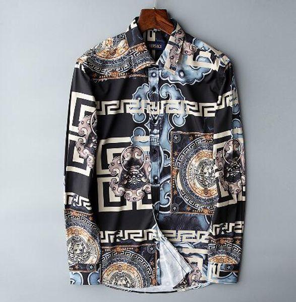 Newest Fashion Autumn Mens Shirt Candy Slim Fit Luxury Casual Stylish Dress Shirts Colours Plus Sizes M-3XL =104