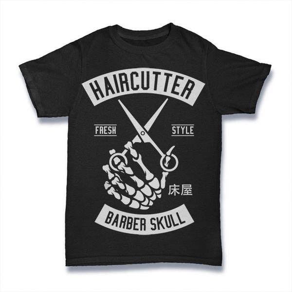 COUPE DE CHEVEUX T-shirt DE STYLE BARBER CHEVEUX HOMMES TAILLE S-3XL Nouveau 2018 Hot Summer Casual T-shirt Impression T-shirt Homme