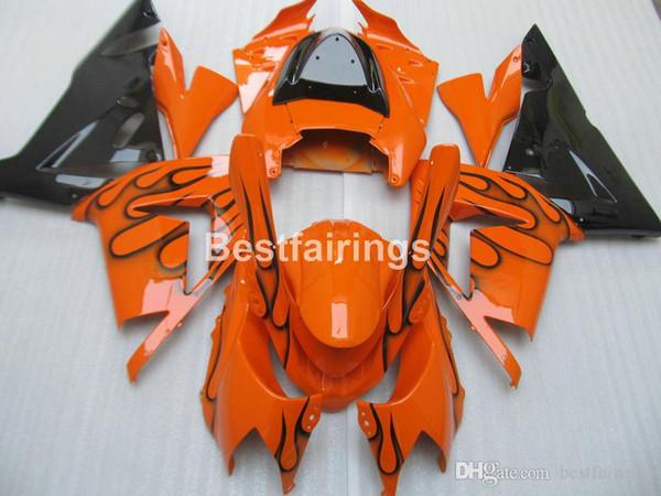 Kit de carenado de plástico abs para Kawasaki Ninja ZX10R 2004 2005 naranja negro carenados de motocicleta set ZX10R 04 05 MT57