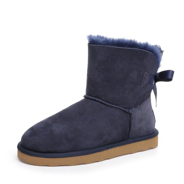 Botas de tornozelo azul marinho