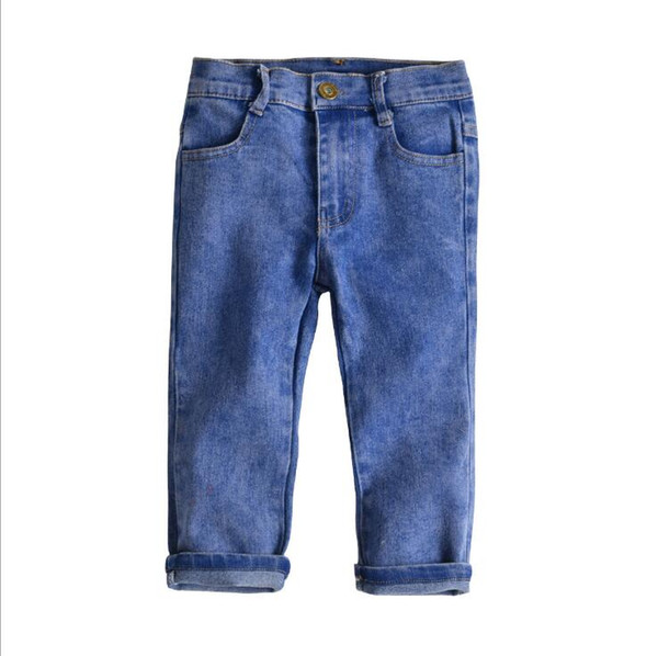 Baby Clothes Boys Girls Jeans Pants 2019 Spring Kids Trousers Fashion Casual Elastic Pants Toddler Bottom Children Clothing Denim Pants 2-7Y