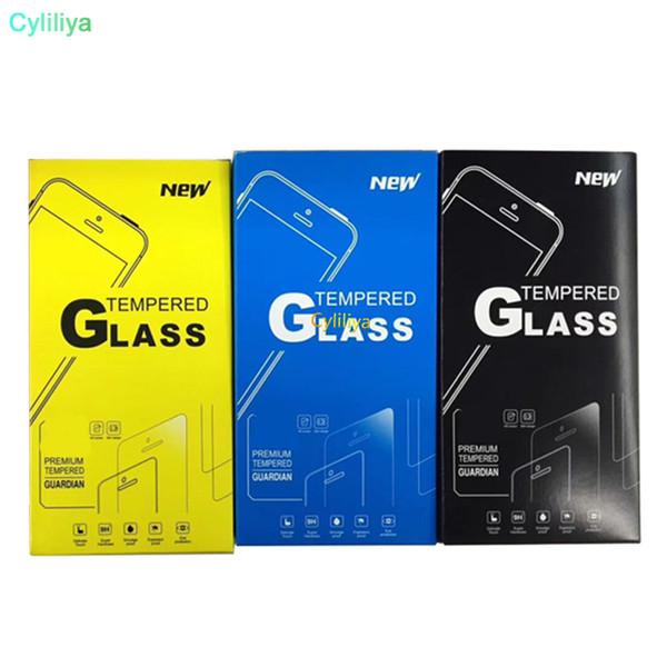 Ücretsiz Kargo Kendinden Trend Ağız Kağıt Ambalaj Kutu Ambalaj için temperli cam Ekran Koruyucu Film için Iphone X 8 7 Artı