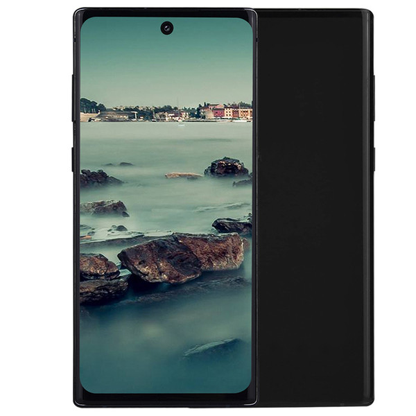 best selling 3 Rear Cameras Goophone N10+ 6.8 inch Punch-hole Full Screen Quad Core 1GB 8GB Android 9.0 Face ID In-display Fingerprint 4G LTE Smartphone