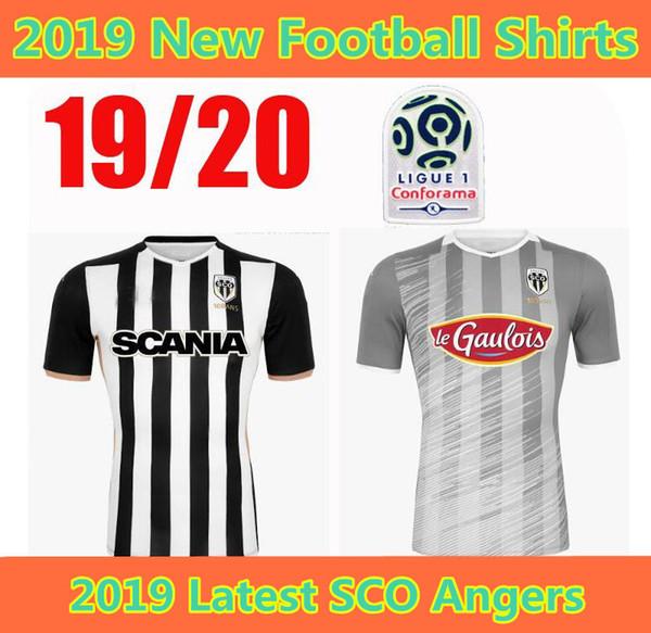 5ed8be6f2f2 19 20 SCO Angers soccer jerseys home 2019 2020 maillot de foot #20 tait #22  Reine-Adelaide #18 Santamaria #19 Bahoken football shirts