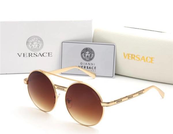 Мода стимулирование сбыта мужчины и женщины металлическая зеркальная рама круговая фиолетовая линия солнцезащитные очки бренд женщины поляризованные солнцезащитные очки