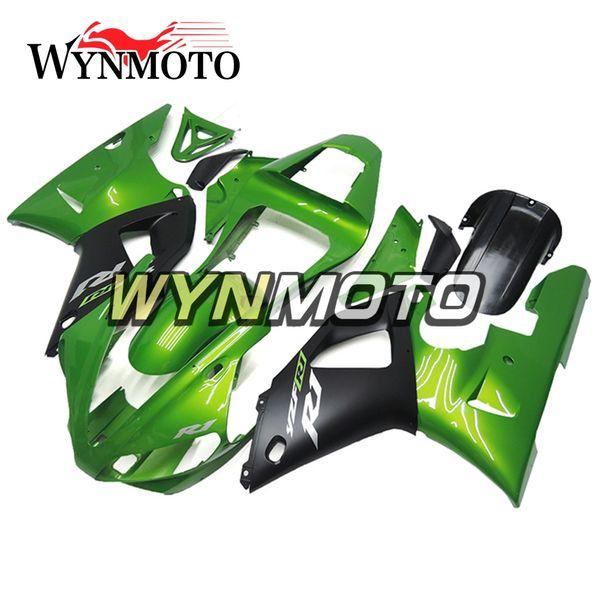 Nueva vMotorcycle carenados para Yamaha YZF 1000 R1 2000 2001 ABS inyección de plástico carenado moto yzf 1000 r1 cubre verde negro