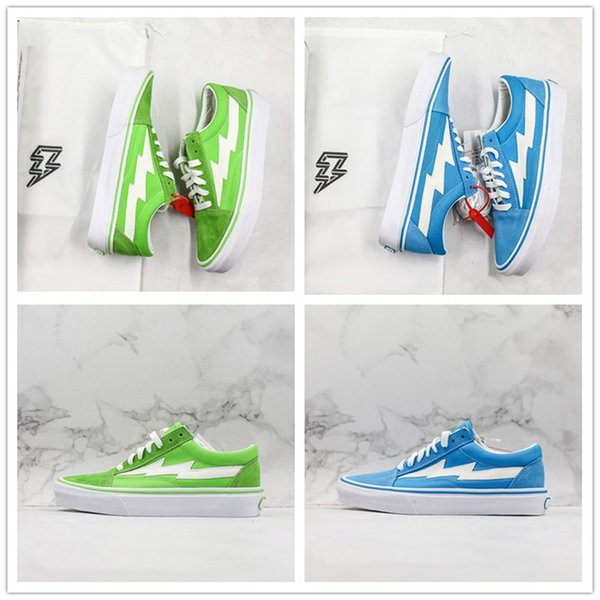 Revenge X Storm Old Skool Canvas Shoes Blue Green TOP Suede Low Cut Mens Women Casual Sneakers Size 35-44 With Box