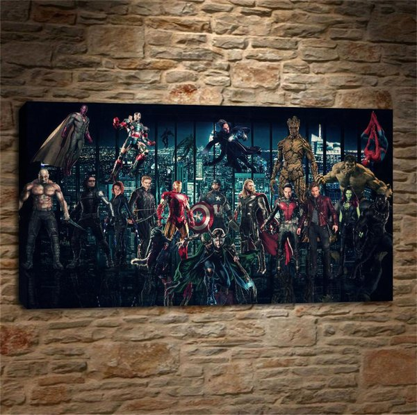 The Marvel Cinematic Universe,Home Decor HD Printed Modern Art Painting on Canvas (Unframed/Framed)