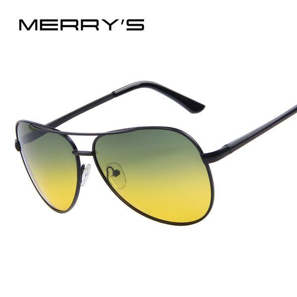 MERRYS Herren Polaroid Sonnenbrille Nachtsichtfahrbrille 100% polarisierte Sonnenbrille