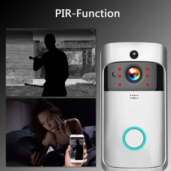 top popular Free shipping wifi video doorbell wireless door intercom camera battery power smart door bell phone calling 2021