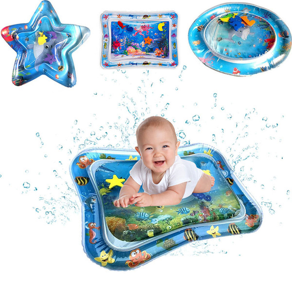 best selling Baby Kids Inflatable Water Play Mat Inflatable Thicken PVC infant Time Playmat Toddler Fun Activity Play Center Water Mat for baby M555