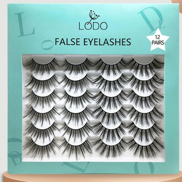 Handmade Thick Soft False Eyelashes Natural Long Eye Lashes 12 Pairs Eyelashes Set Eye Lashes Extension with Packaging Boxes Eye Makeup Tool