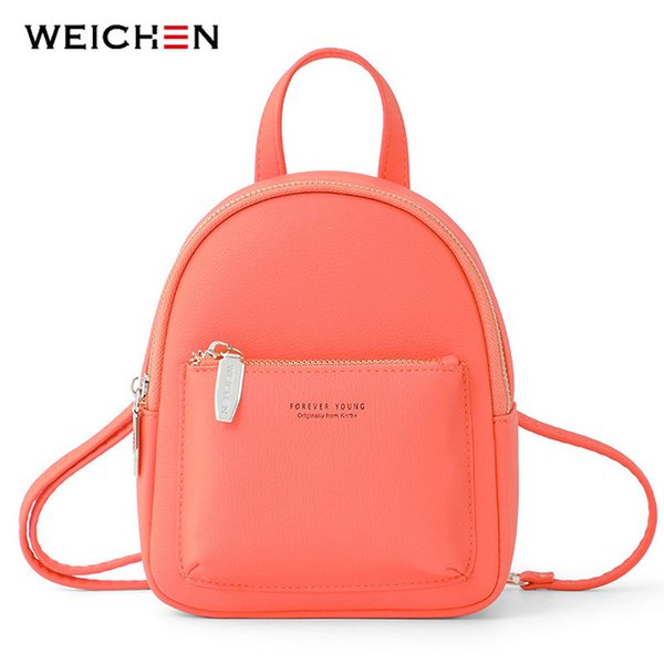 Weichen New Women Mini Backpack Soft Touch Multi-function Female Small Backpack & Shoulder Bag Womens Bagpack Ladies BolsosMX190824