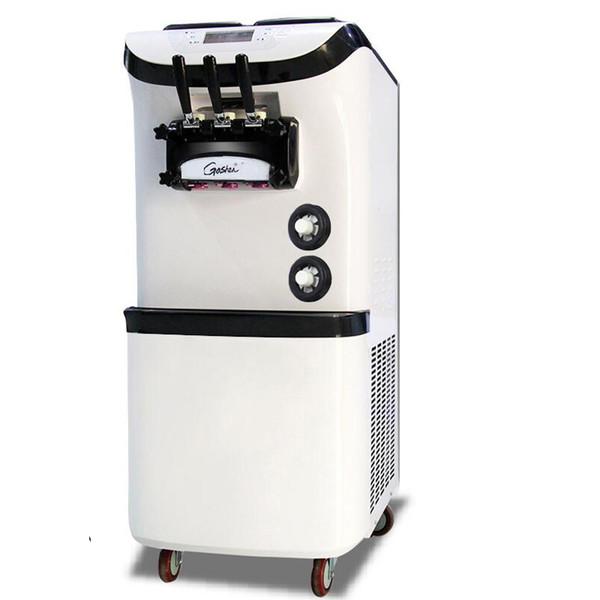 110V / 220V TRE Sapore 36-42L / H Macchina per gelato soft commerciale Macchina per gelato dolce Macchina per gelato R22 o R404A