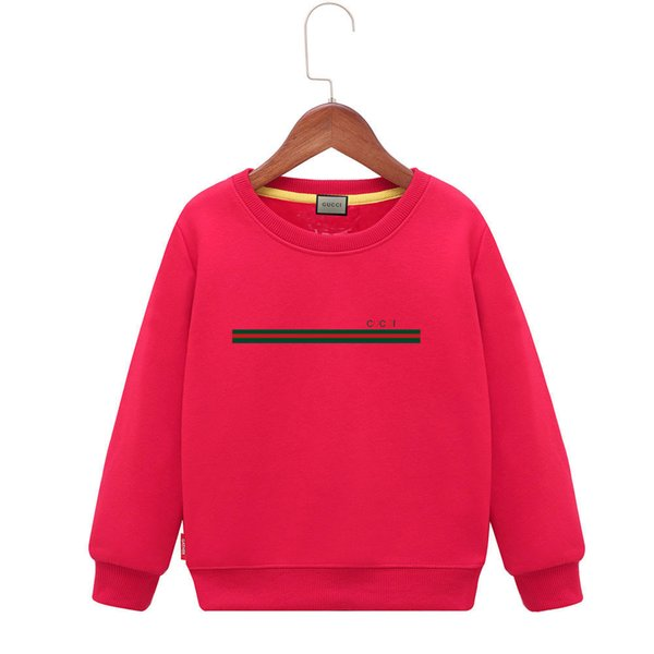 Kids Hoodies Winter clothes Boys Plus Cashmere Exceed Soft Cartoon Sweater Colour Letter Tide Round Collar Children Jacket baby clothing