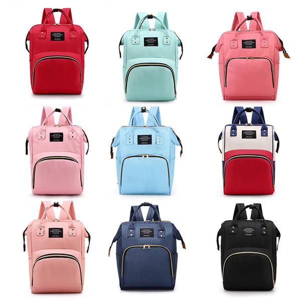 Пеленки сумки Оксфорд рюкзак водонепроницаемый мамочка большие емкость рюкзаки по беременности и родам пеленки сумки мать напольные мешки для хранения кормящих GGA2178