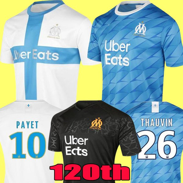 best selling 2019 Olympique de Marseille BALOTELLI Soccer jerseys 2020 Maillot De Foot PAYET L.GUSTAVO THAUVIN 18 19 20 OM Home 2018 Kit Football shirts