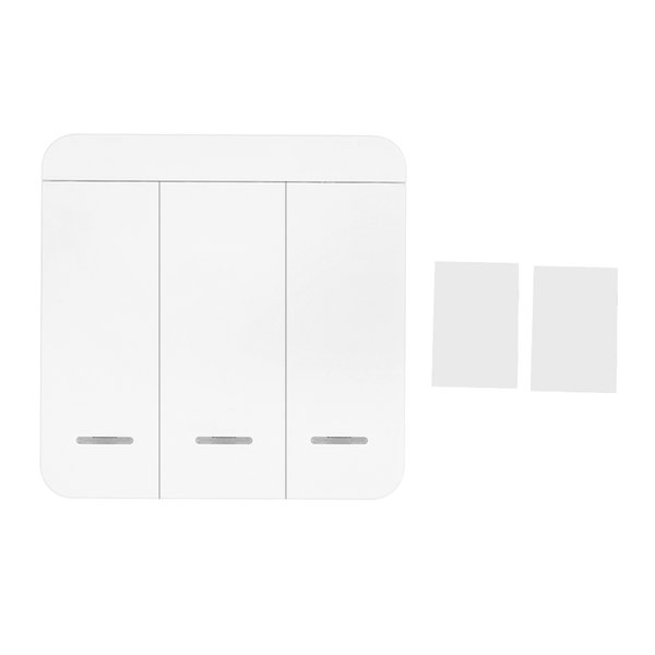 RF Smart Wall Light Switch 1/2/3 Way Wireless Switch No Hub Require Adhesive Receiving Frequency 315MHZ/433mhz For Smart Home