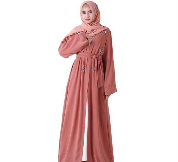 Kaftan Abaya Turkey Kimono Dress Muslims Robe Gown Muslem Moslem Clawdrill  Sewing Byhand Diamond Islamic Ladies Clothing Like Abayas Plus Size Cheap  ...
