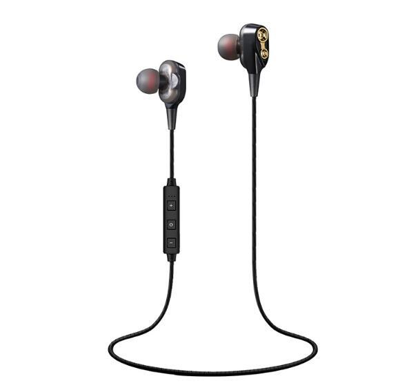 XT21 Double Dynamic Wireless Sport Headphones BT4.2 Bluetooth Earphones with High Fidelity Headset for Smartphone with Retail Box