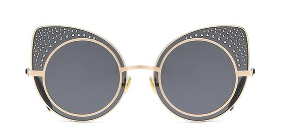 New trend fashion cat eye sunglasses Ladies street shot UV protection sun visor