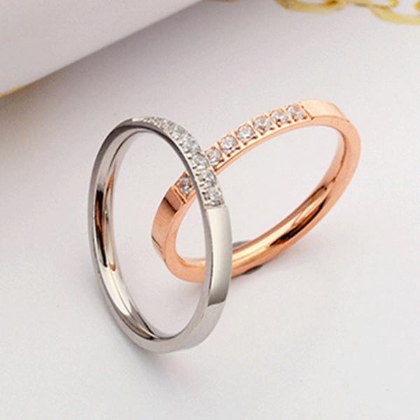 2019 Bridal Wedding Ring Gold Women Cubic Zirconia Rings Silver