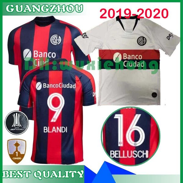 Top news 2019 2020 San Lorenzo de Almagro Home Soccer jersey Argentina Copa Libertadores Away football shirt CAUTERUCCIO BARRIENTOS BLANCO