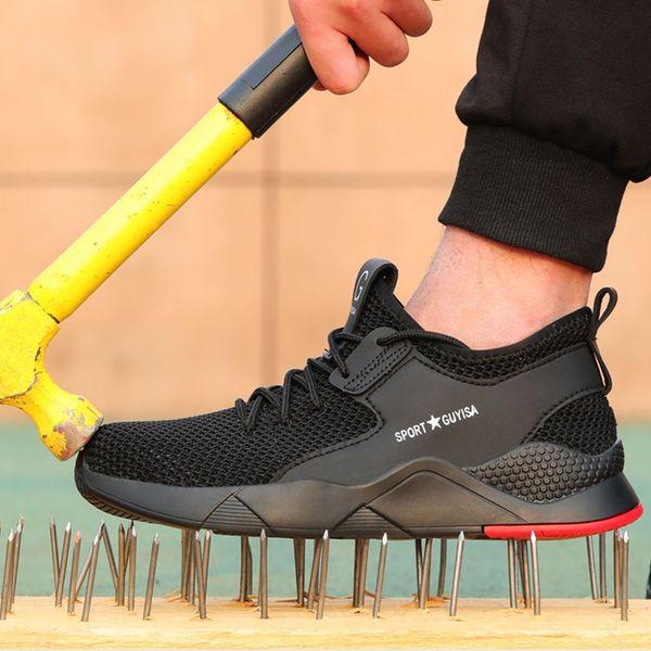 2019 новые кроссовки мужчины кроссовки стальной носок кроссовки защитная рабочая обувь женщины дышащие кроссовки работа Dropshipping