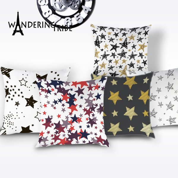 Nordic Geometric Cushion Cover Colorful Boho Home Decor Throw Pillows Covers White Star Pillow Case Decorative Sofa Car Cushions