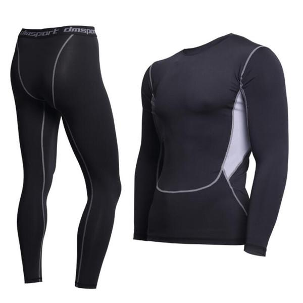 Brand New thermal underwear men underwear sets compression fleece sweat quick drying thermo Fitnessunderwear mens winter clothesMX190904