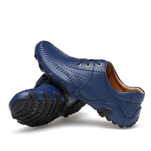 Breathable 2020 neue Trend Leder Herren Golfschuhe klassische Outdoor-Golf Training Turnschuh-Männer Coach Schuhe Big Size 38-47