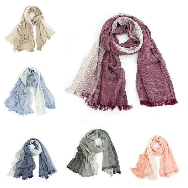 42ec7c9ac New Autumn Winter Scarf Unisex Men And Women Soft Tassel Bufandas Cachecol  Gray Plaid Woven Wrinkled
